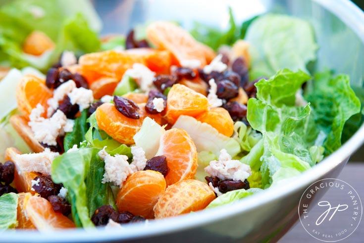romaine lettuce and mandarin orange salad