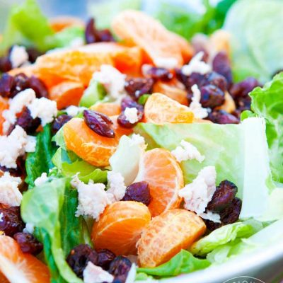 Clean Eating Mandarin Orange Chicken Salad With Dried Cranberries Recipe