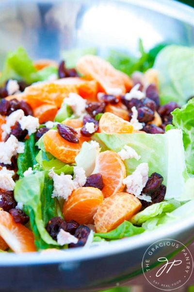 Clean Eating Mandarin Orange Chicken Salad With Dried Cranberries