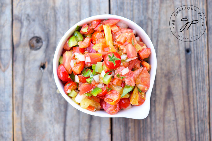 Clean Eating Marinated Tomato Salad Recipe