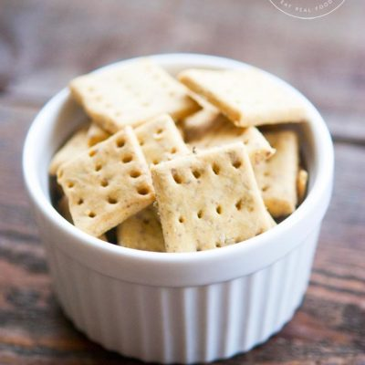 Clean Eating Grain Free Rosemary Crackers Recipe