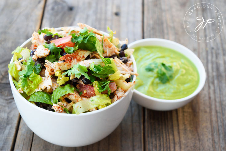 Clean Eating Mexican Style Chicken Salad Recipe Ready To Serve