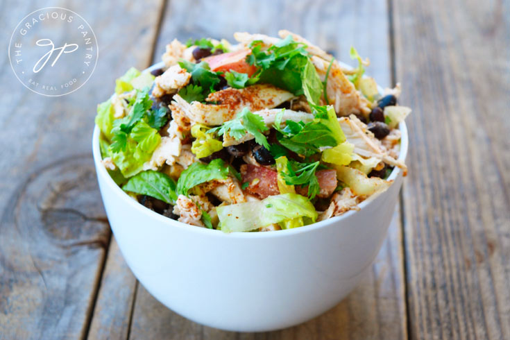 Clean Eating Mexican Style Chicken Salad Recipe In A Bowl