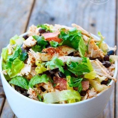Clean Eating Mexican Style Chicken Salad Recipe
