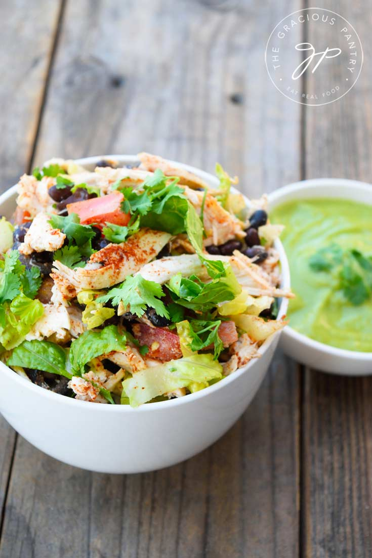 Clean Eating Mexican Style Chicken Salad Recipe With Dressing