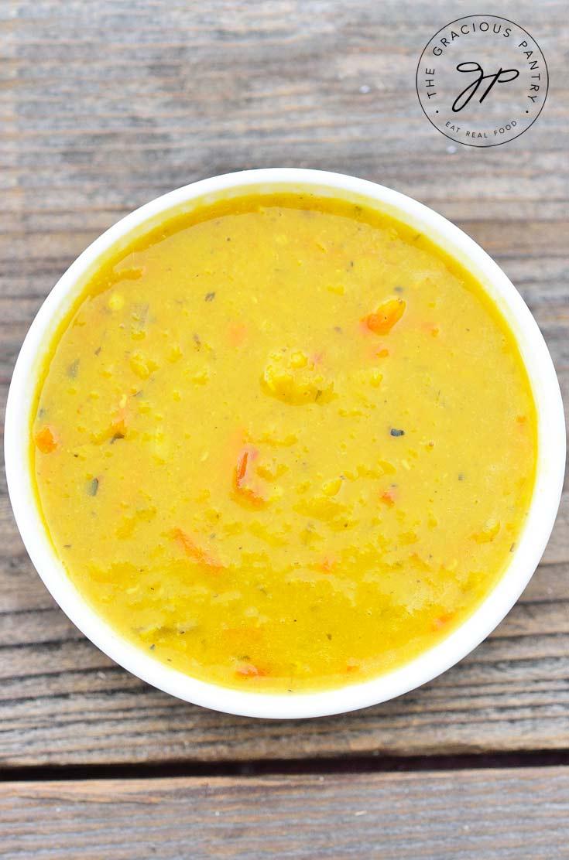 Clean Eating Carrot & Ginger Red Lentil Soup Recipe For Dinner