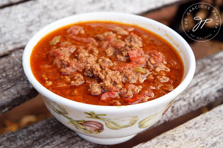 Clean Eating Chili Con Carne Recipe In Bowl