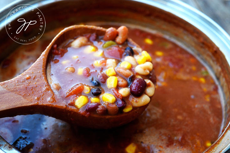 Clean Eating Hearty Bean Chowder Recipe Scooped