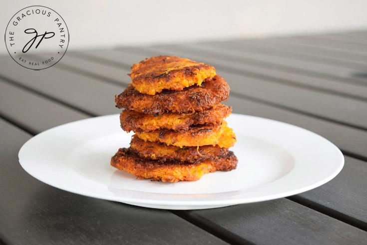 Clean Eating Sweet Potato Mini Hash Browns Recipe On Table