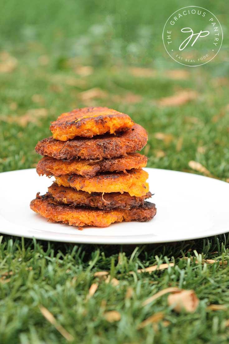 Clean Eating Sweet Potato Mini Hash Browns Recipe Plated