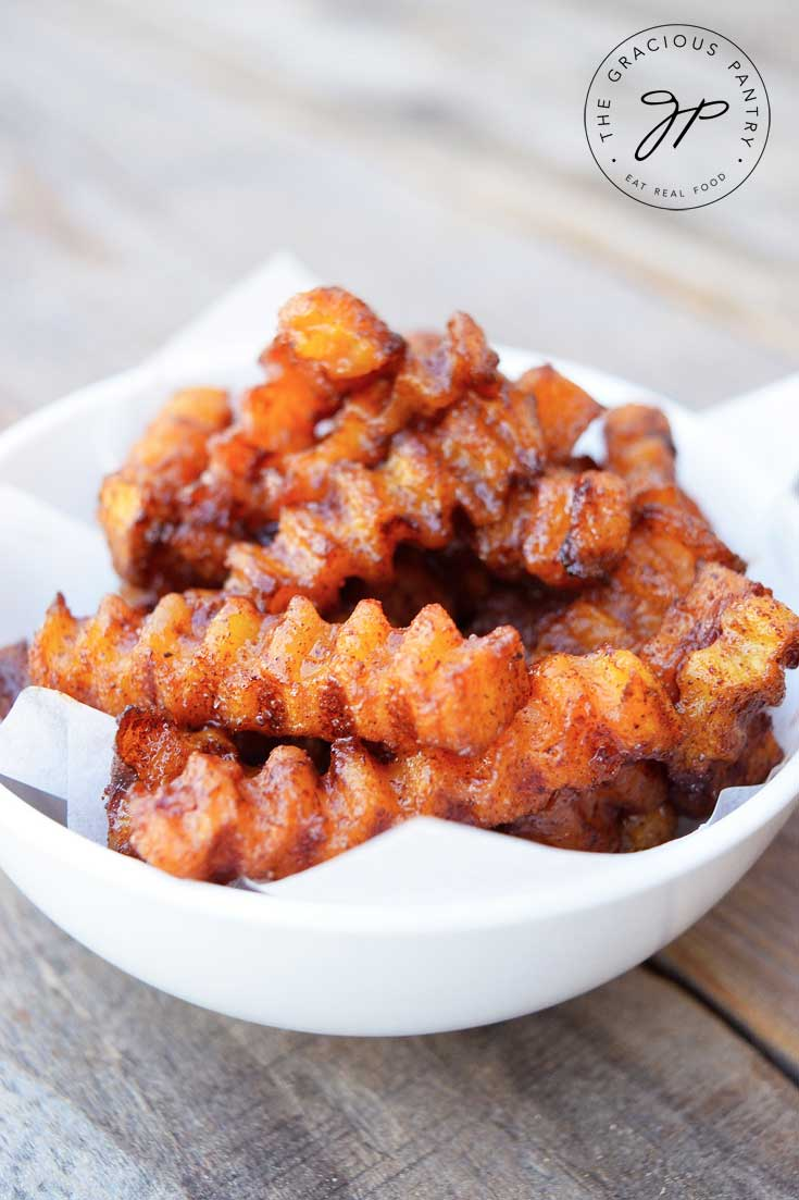 Clean Eating Cinnamon Butternut Squash Fries Recipe
