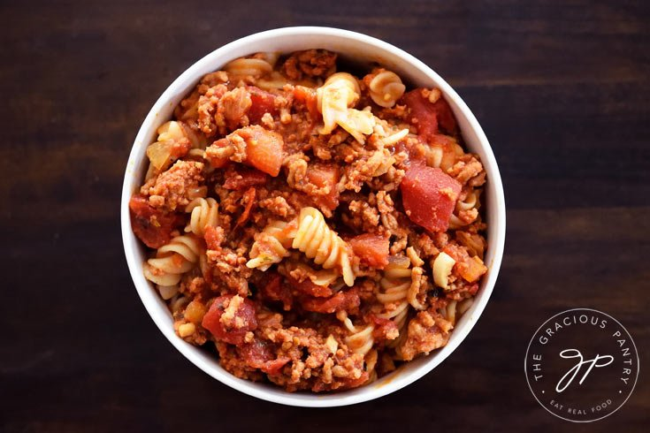 Clean Eating Goulash Recipe On Table