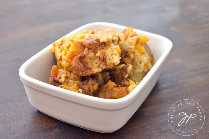 Clean Eating Slow Cooker Pumpkin Cobbler Recipe Ready To Serve