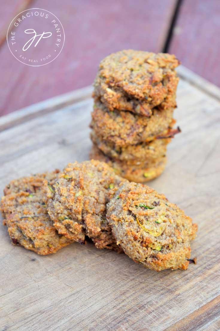 Clean Eating Grain Free Zucchini Bread Cookies Recipe