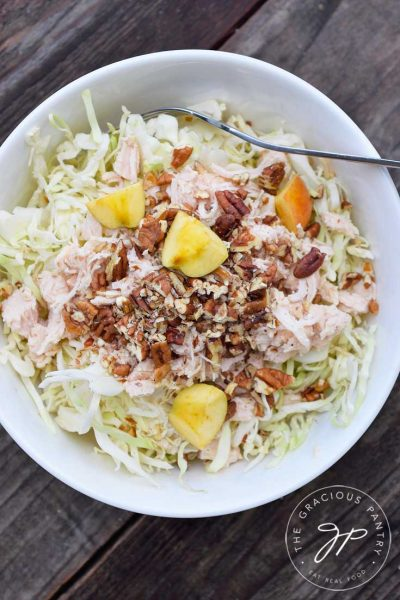 Clean Eating Autumn Cabbage Salad Recipe