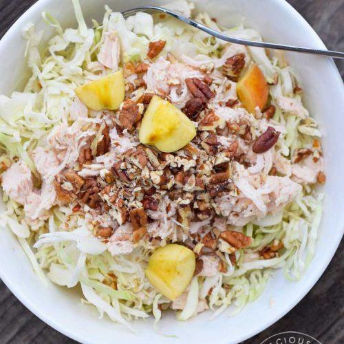 Clean Eating Autumn Cabbage Chicken Salad Recipe