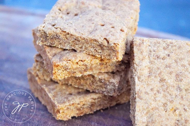 Clean Eating Gingerbread Shortbread Recipe Baked
