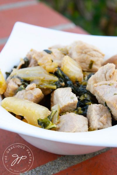Clean Eating Asian Style Pork Bok Choy Recipe
