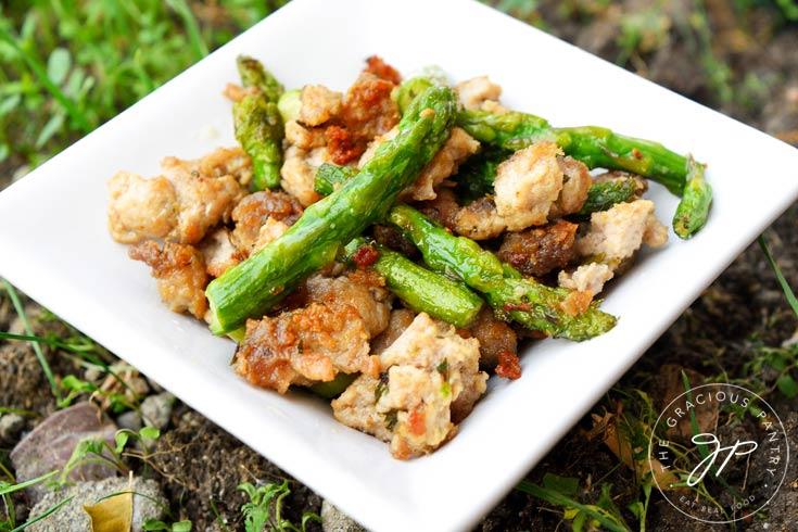 Clean Eating Ground Turkey Asparagus Skillet Recipe