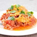 Clean Eating Cheesy Mexican Chicken Casserole Recipe