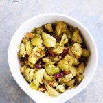 Clean Eating Roasted Garlic Brussels Sprouts Salad Recipe