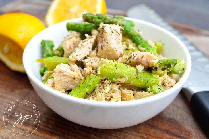 Clean Eating Tuna Asparagus Skillet Recipe