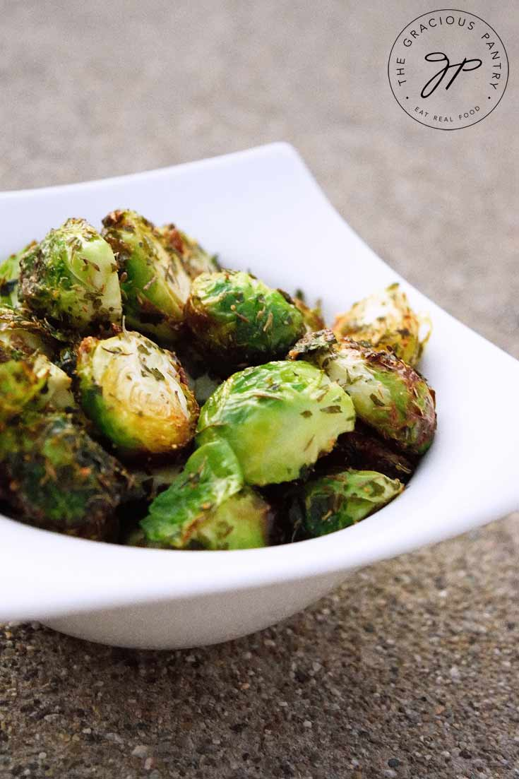 Clean Eating Air Fryer Roasted Brussels Sprouts