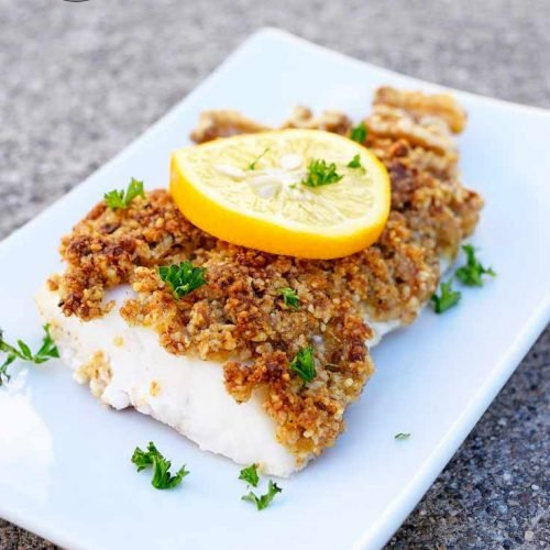 Walnut Crusted Cod Recipe The Gracious Pantry