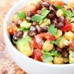 Clean Eating Chickpea Black Bean Salad Recipe