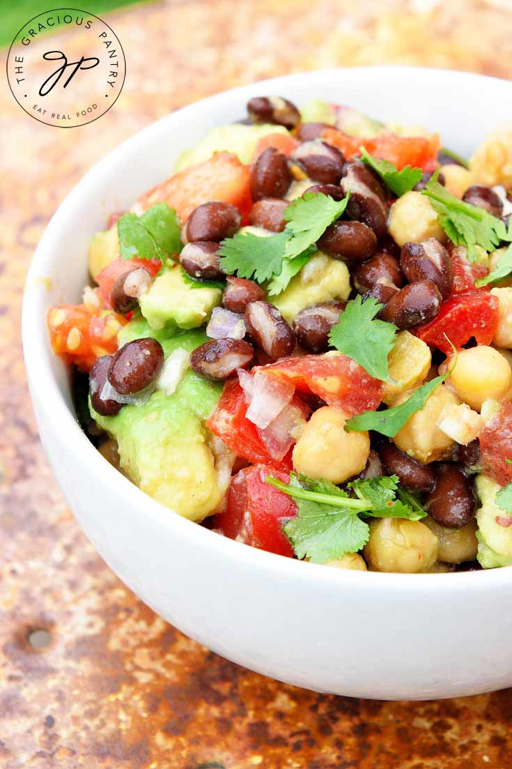 Chickpea Black Bean Salad Recipe