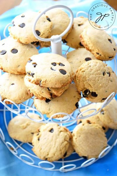 Clean Eating Lavender Chocolate Chip Tea Biscuits Recipe