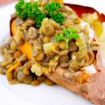 Clean Eating Lentil Stuffed Sweet Potato Recipe