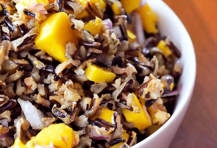 Clean Eating Mango Wild Rice Salad Recipe