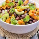 Clean Eating Black Bean Roasted Sweet Potato Salad Recipe