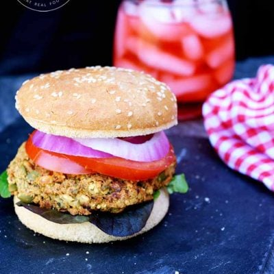 Clean Eating Chickpea Burgers Recipe