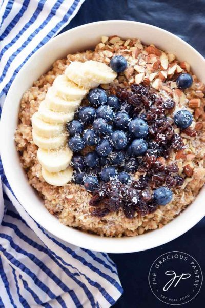 Clean Eating Instant Pot Steel Cut Oatmeal Recipe