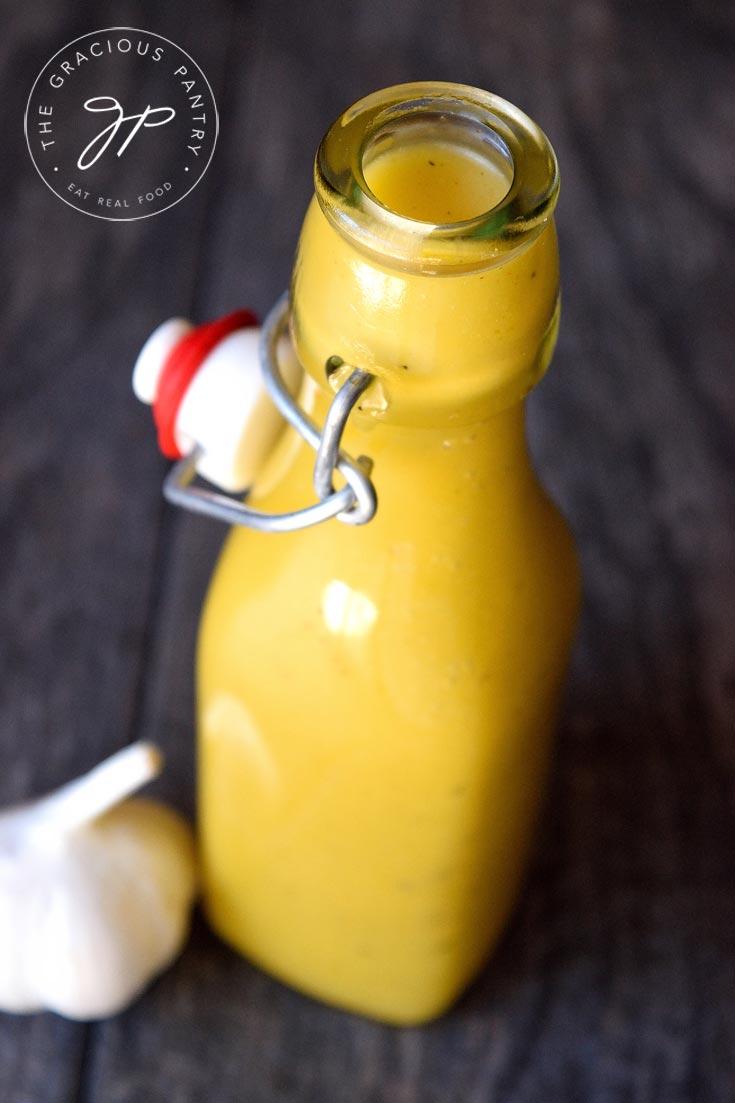 Clean Eating Garlic Lemon Vinaigrette Recipe