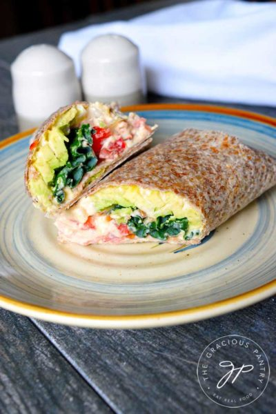 Clean Eating Kale And Hummus Wrap Recipe