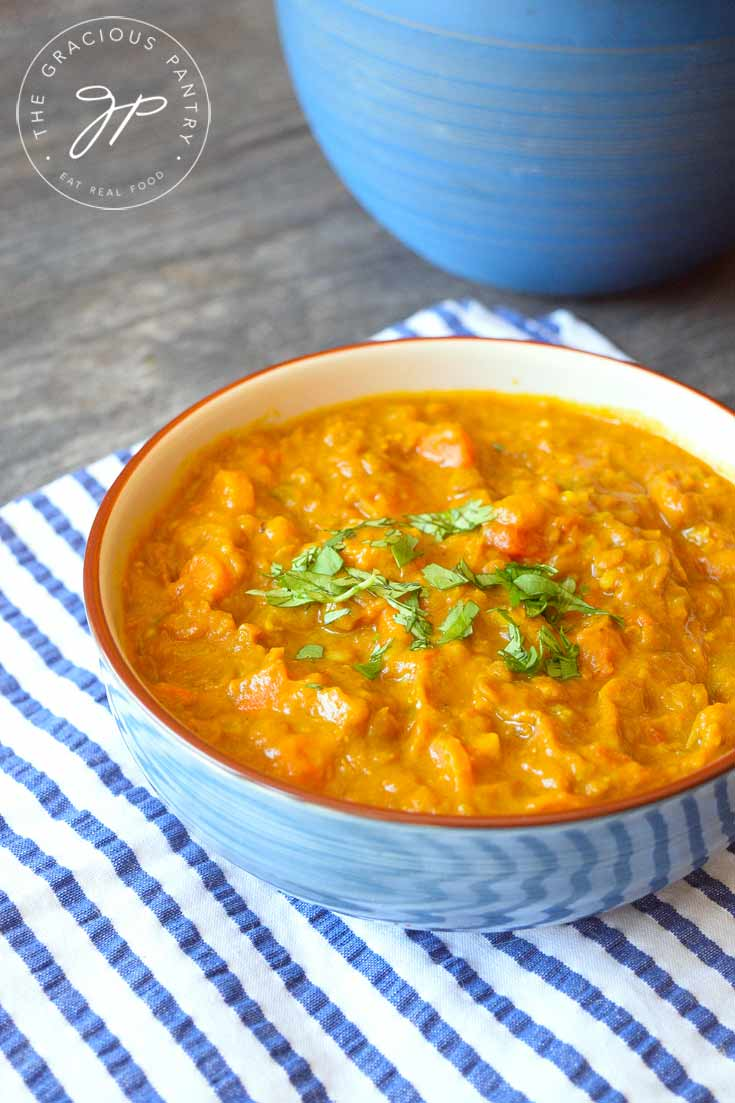 Clean Eating Instant Pot Lentil Curry Recipe