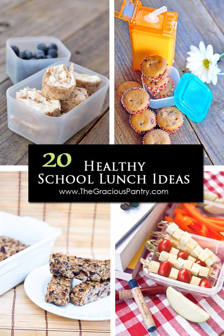 A collage showing four of these 20 Back To School Lunch Ideas For Kids.