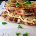 Clean Eating Grilled Garlic Flatbread Recipe
