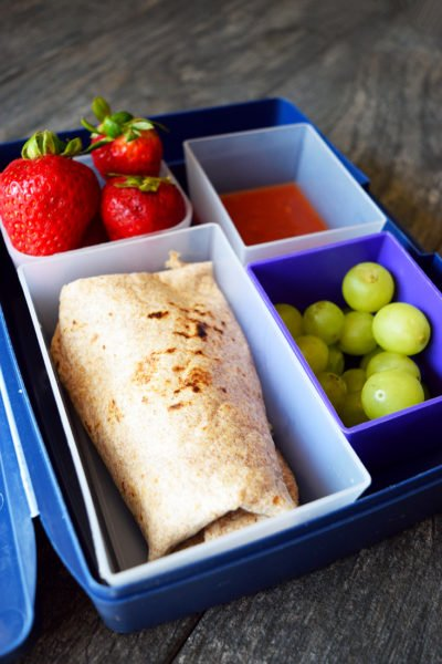 Clean Eating Lunch Box Burritos Recipe