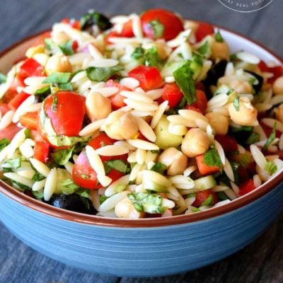 Chickpea Orzo Salad Recipe
