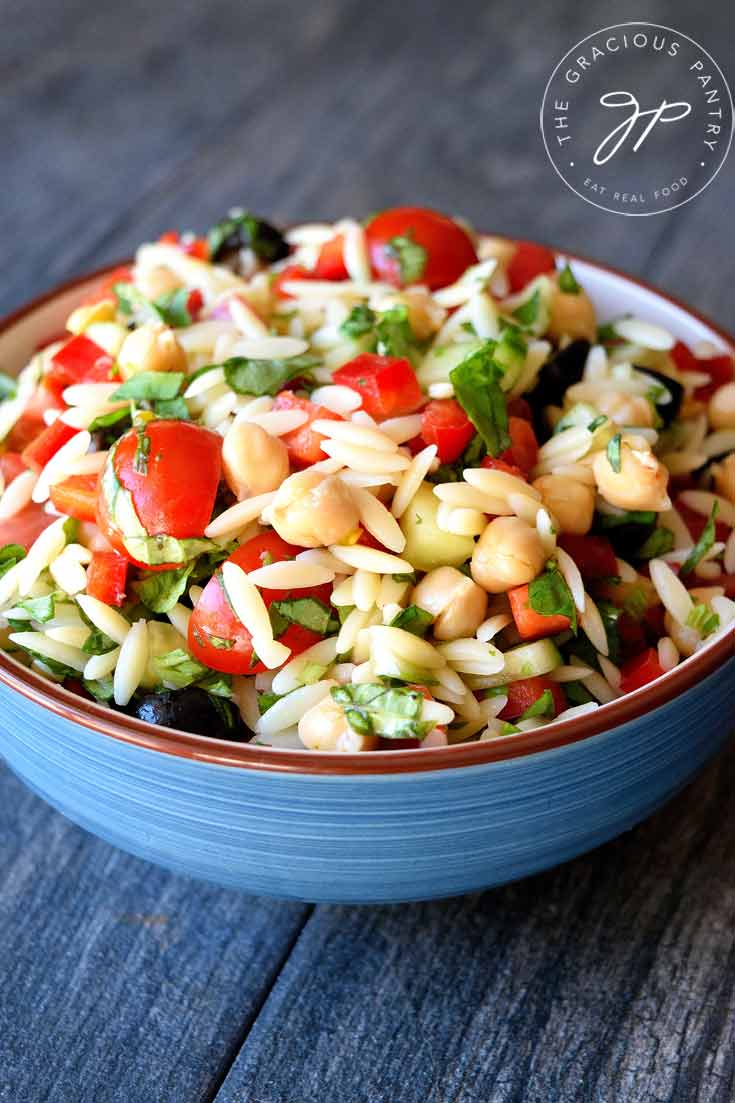 Clean Eating Chickpea Orzo Salad Recipe