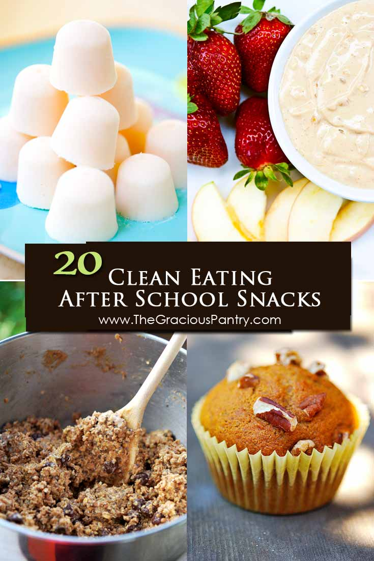 20 Clean Eating After School Snacks