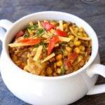 Clean Eating Lentil Tortilla Stew Recipe