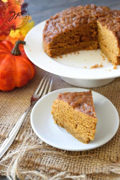 Clean Eating Instant Pot Pumpkin Spice Cake Recipe