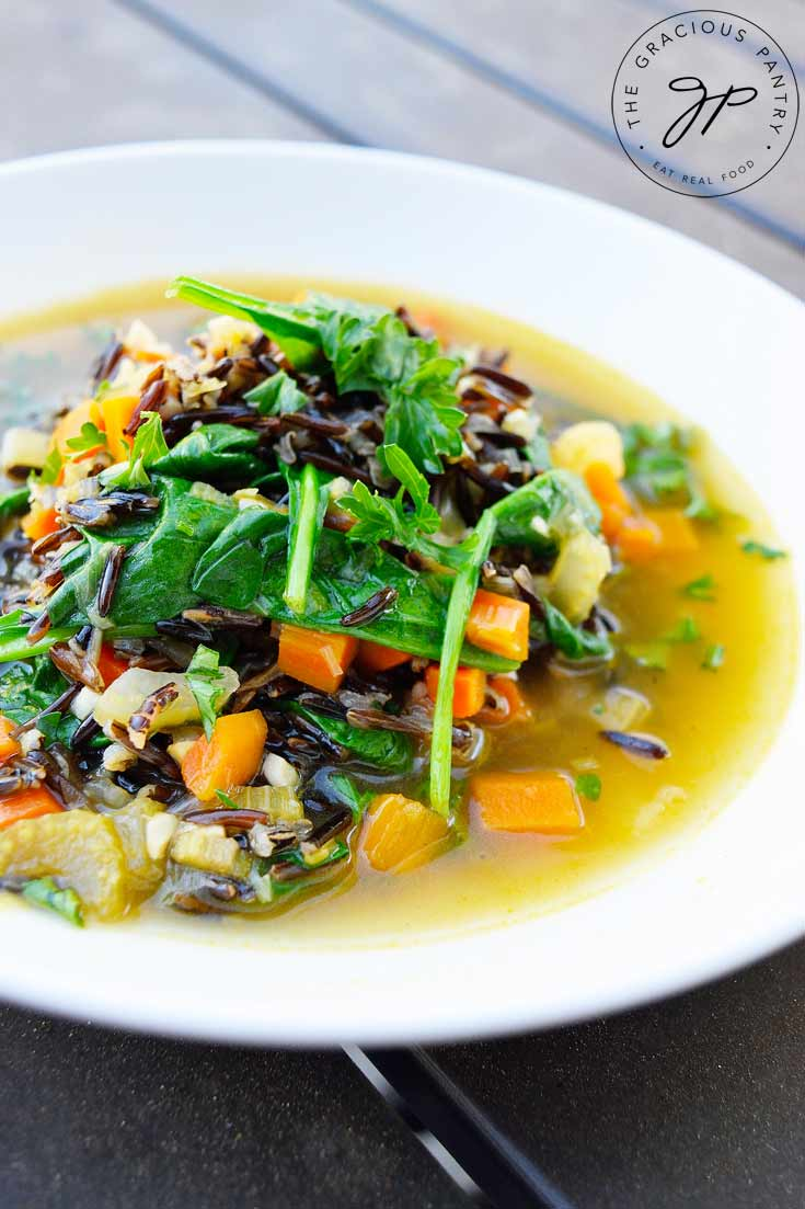 Clean Eating Wild Rice Vegetable Soup Recipe