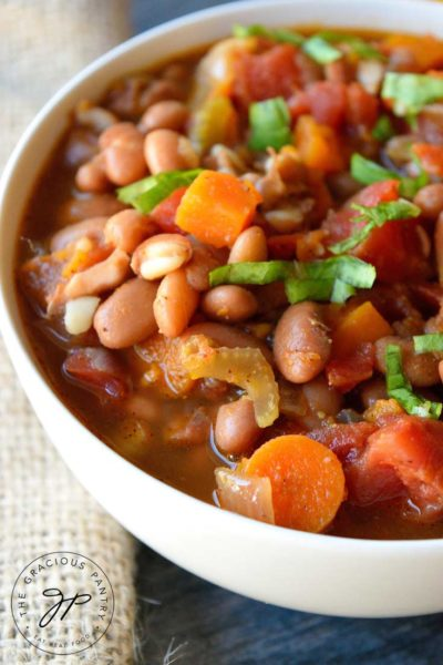 Clean Eating Sweet Potato Vegetable Chili Recipe