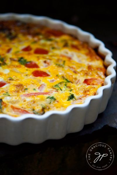 Clean Eating Vegetable Breakfast Tart Recipe